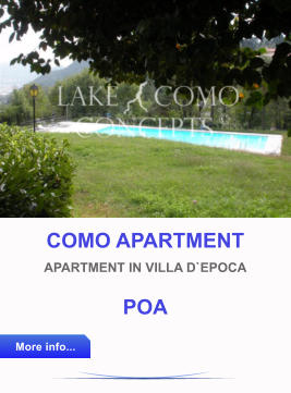 COMO APARTMENT APARTMENT IN VILLA D`EPOCA POA More info... More info...