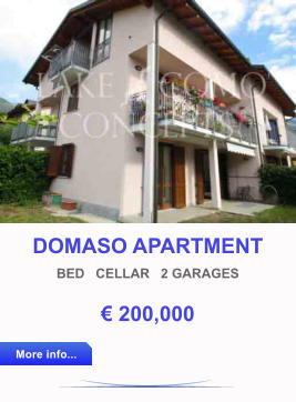 DOMASO APARTMENT BED   CELLAR   2 GARAGES € 200,000 More info... More info...